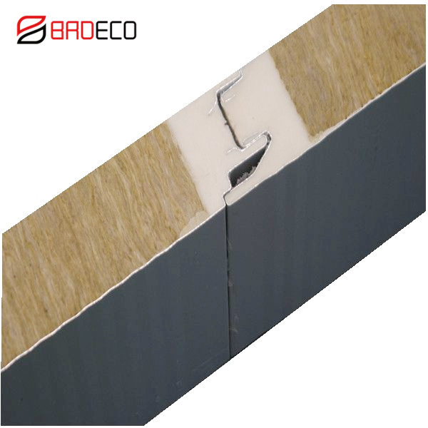 Factory Sale Certified Fireproof PU Sealing Sandwich <strong>Panel</strong> With Rockwool