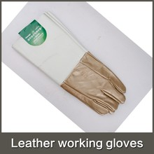Beekeeping New Nitrile Gloves 2015 Hot Two-color Long Abrasion <strong>Safety</strong> Working Protective Leather Welding Gloves