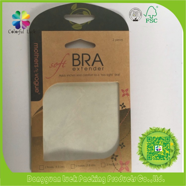 Cheap Bulk Women Underwear Bra Extender Paper Kraft Bag with Window
