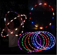 "Hot Sale 36"" / 90cm LED Glow Hula Hoop 24 LED 7 Colors Performance Loose Weight Hola Hoop Sports Toys"