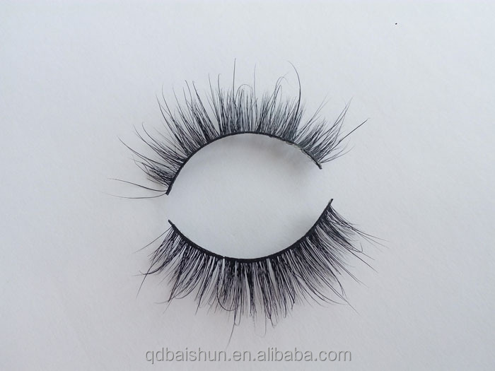 Factory wholesale Clear Band 3D Mink Eyelashes with OEM Eyelash Packaging