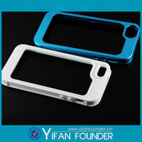 matte silicone cover + pc ABS out bumper hybrid detachable case for iphone 5