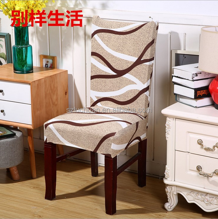 Wholesale Home Style Square Back Lycra Spandex Garden Chair Cover