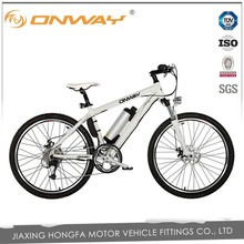 High speed 24V 250W rear motor electric bike with water bottle