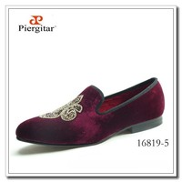 Fashion Men Footwear Burgundy Velvet Loafers