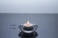 Wholesales beauty romantic wedding acrylic glass tealight candle holder