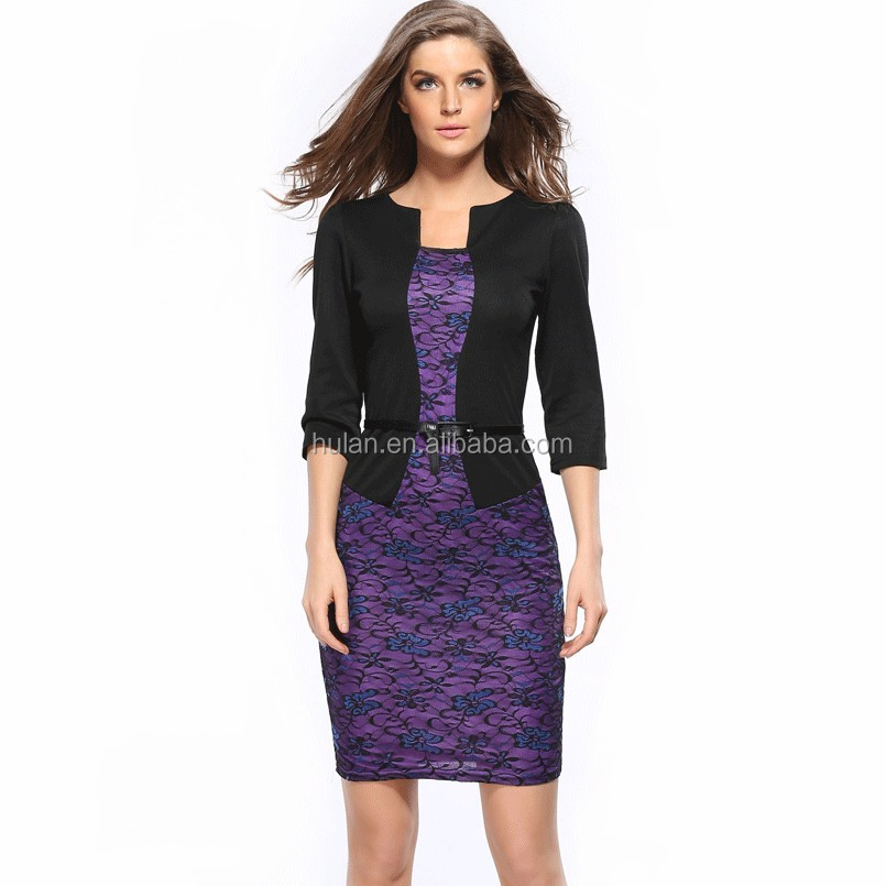 2017 hot sale office lady casual style women career <strong>dresses</strong>