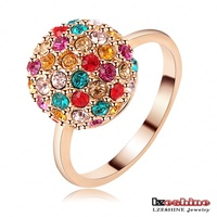LZESHINE Colorful Crystal Disco Ball Girls Gift Ring Cheap Promotional Ri-HQ1154