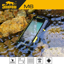 Snopow M6 IP68 waterproof phone with physical button 3.5 inches carbon dual sim card 3g mobile phone