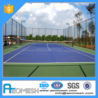 deocrative chain link fence for volleyball court