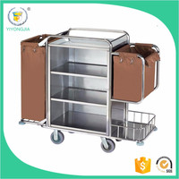 for hotel guest room Cleaning trolley cart wholesale stainless steel housekeeping