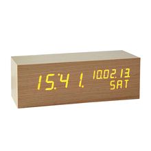 ZOGIFT 2014 Hot sale Solid Wood Clock Square Wooden Digital Clock Desk Clock for promotion gifts