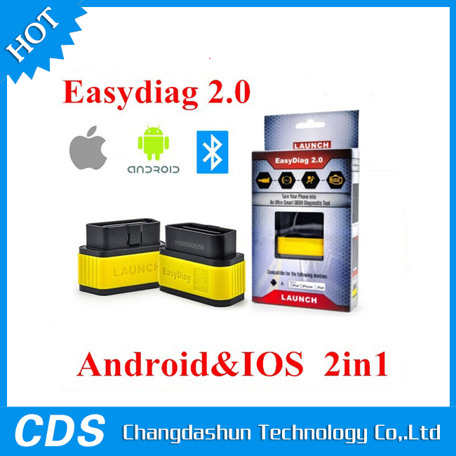 <strong>00</strong>% Original Launch X431 Easy Diag Original Diagnostic Tool Easydiag 2.0 for Android/iOS 2 in 1 Update Online