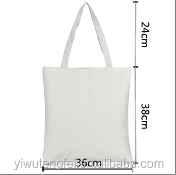 New design Organic Recyclable custom logo printed cotton canvas tote bag with high quality