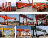China Low Price Mobile Rubber Tyre Single Gantry Crane