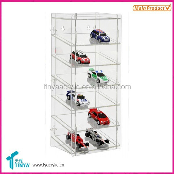 Best Selling Clear Glass Toy Car Shelves Display Acrylic Charger Display Counter Acrylic Display Case for Hot Toys Manufacturer