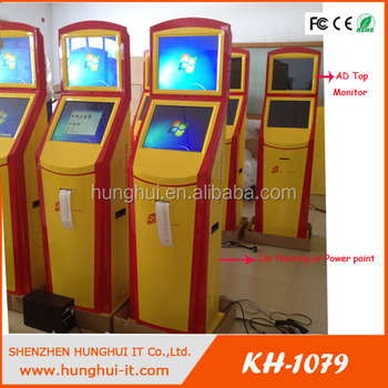 Custom Design dual Touch Screen Kiosk with advertisnig monitor