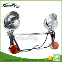 Passing Turn Signals Fog Motorcycle LED Spot Light Bar For Honda VT Shadow Spirit Velorex Aero 1100