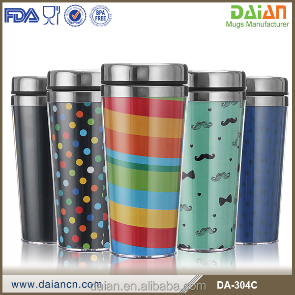 ECO friendly custom paper insert coffee travel mug