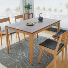 Korean style dining table designs solid wood table