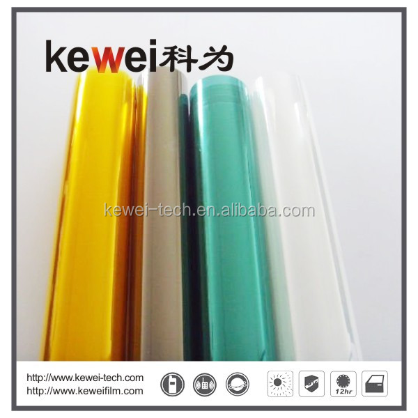 Imported Korea PET material Self-adhesive blue car window tinted film with good quality
