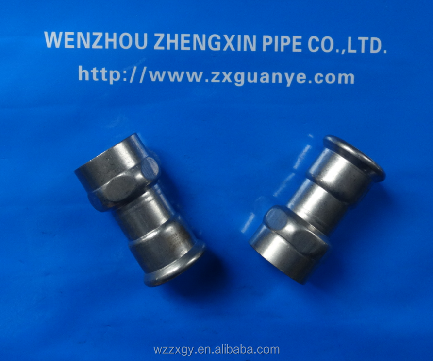 M Profile 304 SS Adapter Coupling with Female Threaded End
