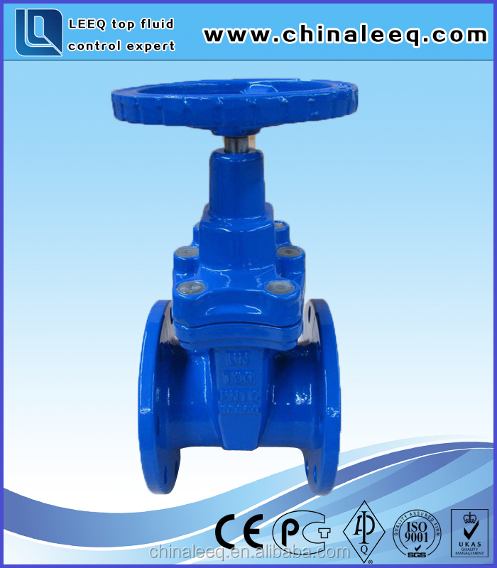 DIN Resilient Seat Non Rising Stem Ductile Iron Gate Valve