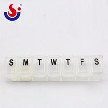 Portable Transparent Color Plastic Small Pill Box,Weekly Pill Organizer