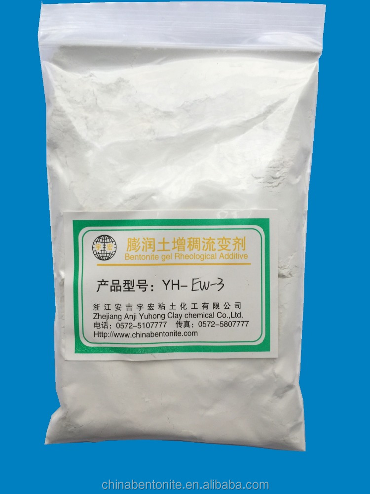 White bulk bentonite clay powder for emulsion paint and fine chemicals