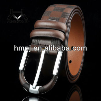 2015 fashion personalized men's belt with genuine leather
