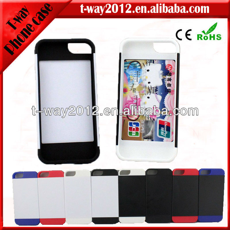 Hot!for i phone5 cases and covers with credit card holder
