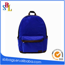 Wholesale factory price navy blue canvas backpack school bag