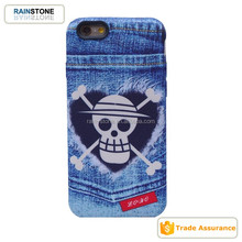 Fashion skull head Jean leather cell phone case for iphone 6s