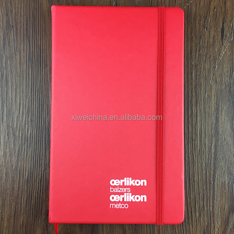 a5 a4 hardcover pu leather custom notebook with elastic band manufacturer