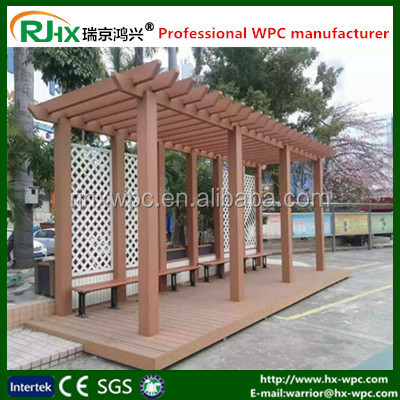 Composite material for Garden furniture pergola metal for cheap pergola made of green wood plastic composite deck