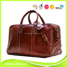fashion leather travel weekender bag