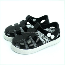 New design jelly shoes kids pvc sandals plastic jelly shoes