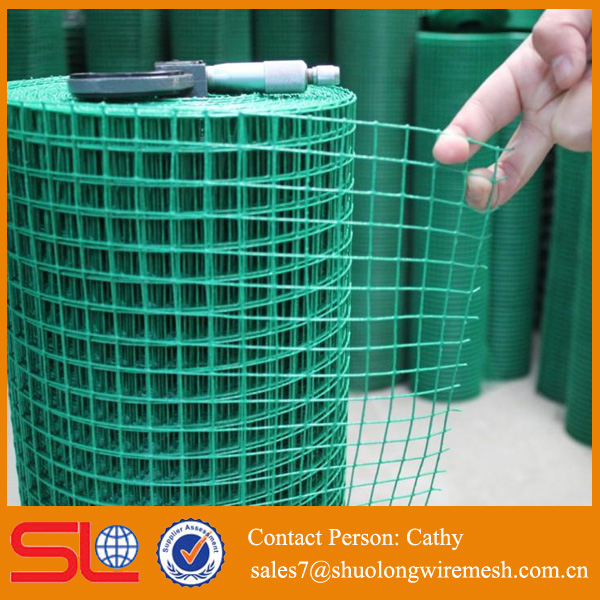 "5% discount UK BS4483 PVC coated Welded Wire Mesh 1/2""X1/2"" (12.7mm*12.7mmx 1.65mm)"