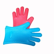 Silicone BBQ Fnger Tips kitchen cooking Gloves Colourful bbq gloves with fingers