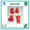 Red wear-resisting red silicone valve for plastic bottle