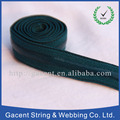 Customized printed elastic ribbon with fold over