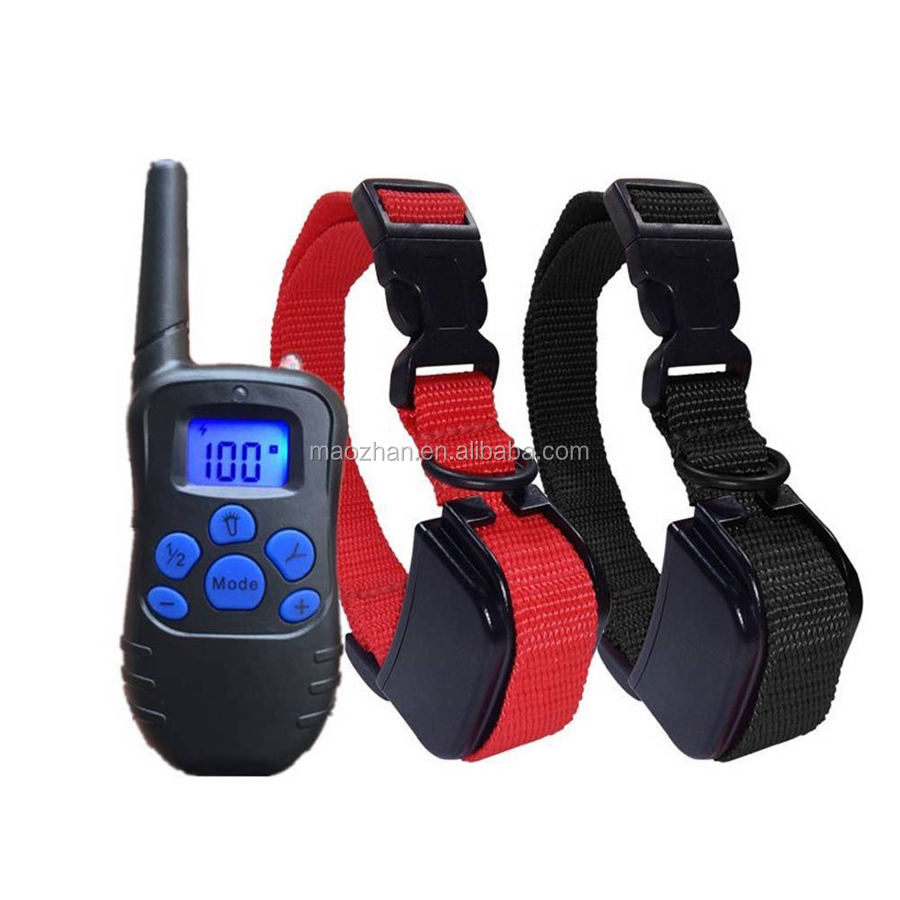 New 330Yards Waterproof Dog Training Collar Electric Remote Pet Shock Collar for 2 Dogs