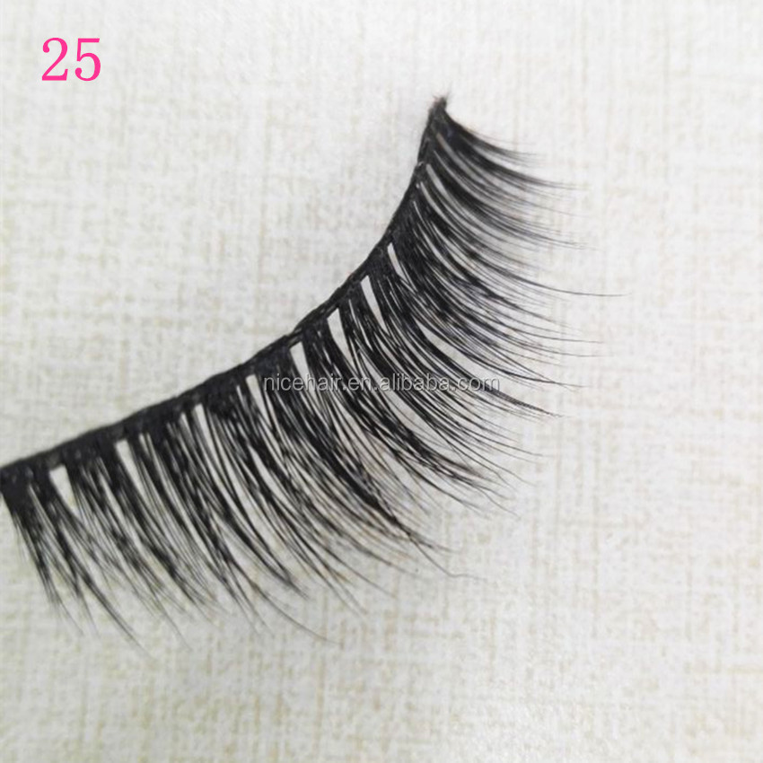 2017 presell most fashion style false eyelash silk material lashes with full hade made craft