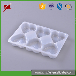 Clear disposable plastic cookie cavity insert packaging chocolate blister tray