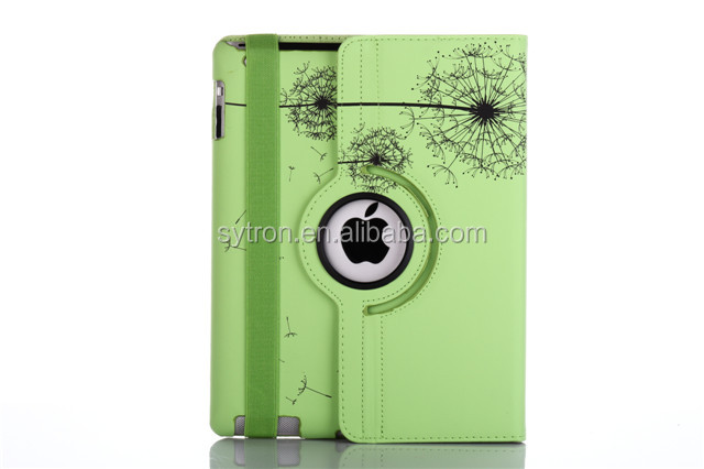 Customized 360 rotatable leather printing flip cover case for tablet for ipad pro