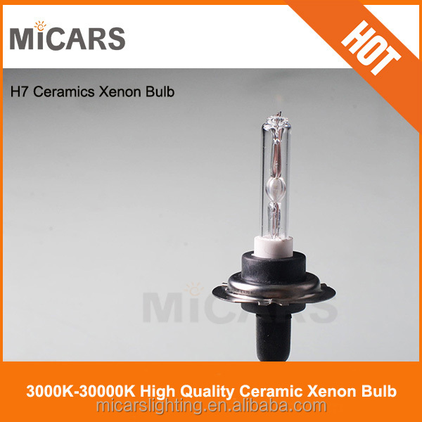 Ceramic car light 75W hid xenon H7 bulb 6000k factory in china