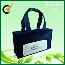 Navy nonwoven travel zipper document bag
