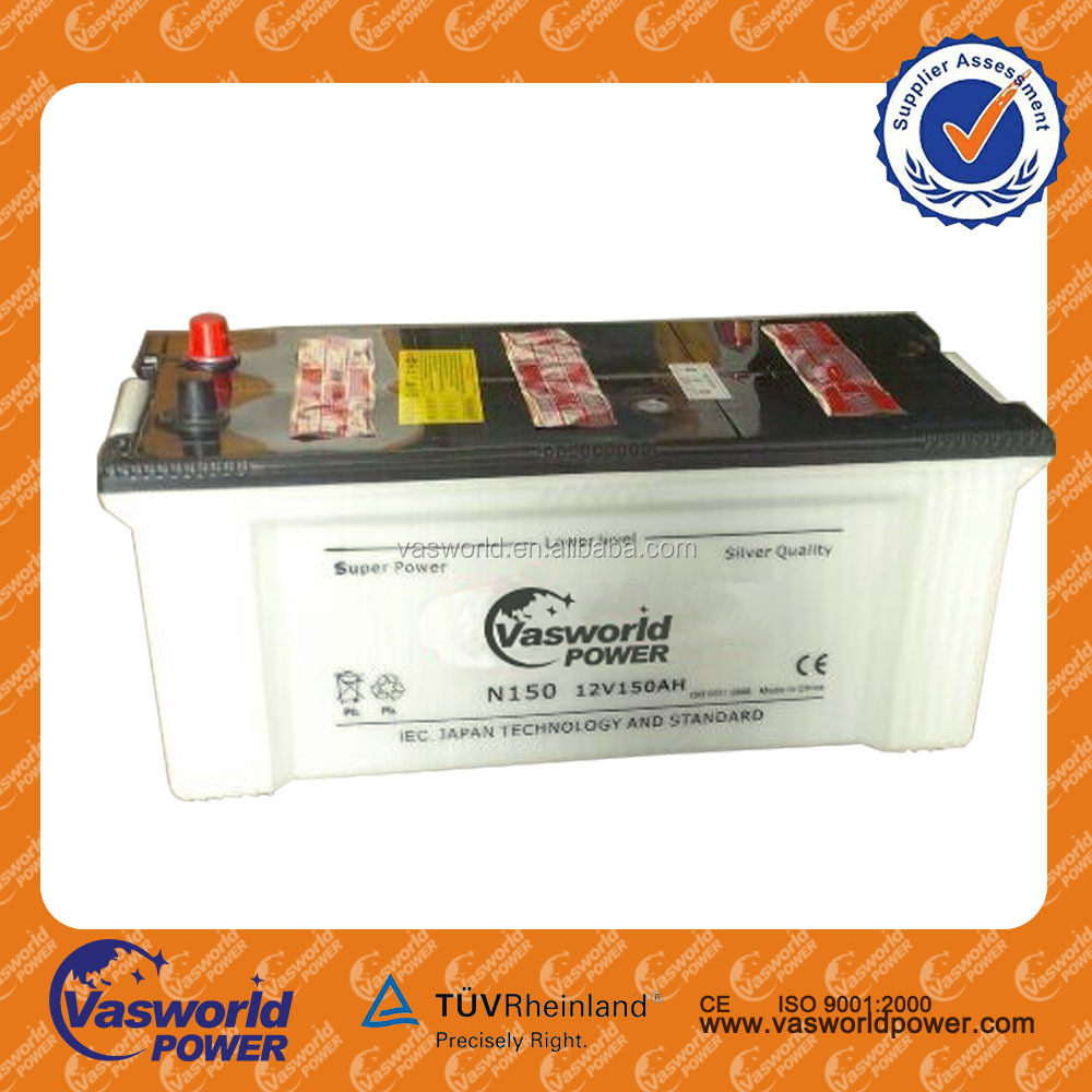 Rechargeable Car Battery N150 for dry charged car battery