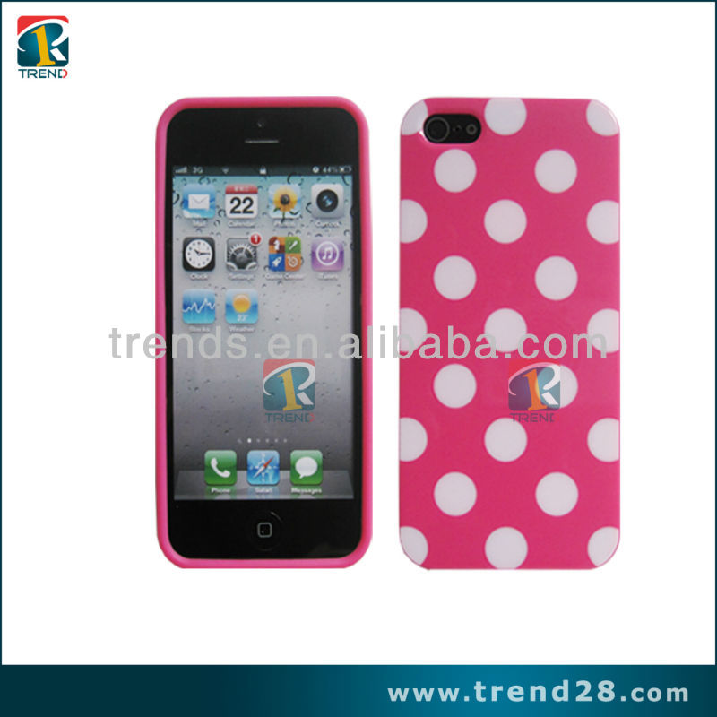 Hot selling Fashionable tpu material smart dot view case cover for iphone 5