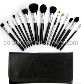 wholesale makeup brush set custom logo makeup brushes cosmetic makeup brush kit/set with fashion black bag